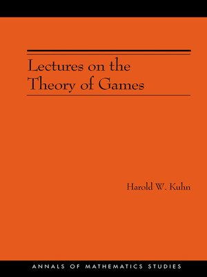 cover image of Lectures on the Theory of Games (AM-37)