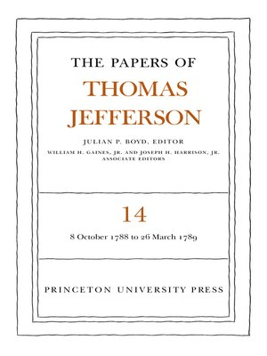 cover image of The Papers of Thomas Jefferson, Volume 14
