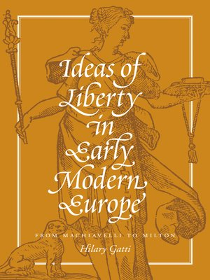 cover image of Ideas of Liberty in Early Modern Europe