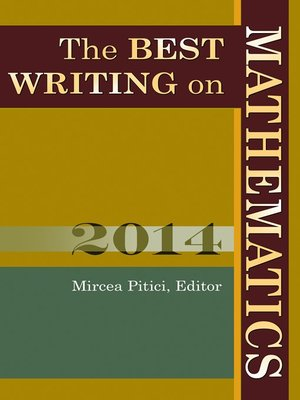 cover image of The Best Writing on Mathematics 2014