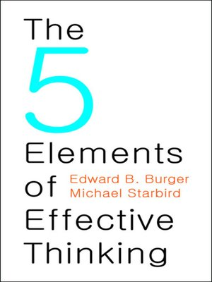 cover image of The 5 Elements of Effective Thinking