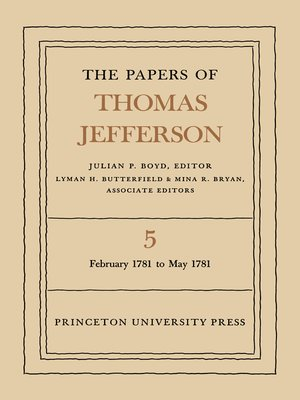 cover image of The Papers of Thomas Jefferson, Volume 5