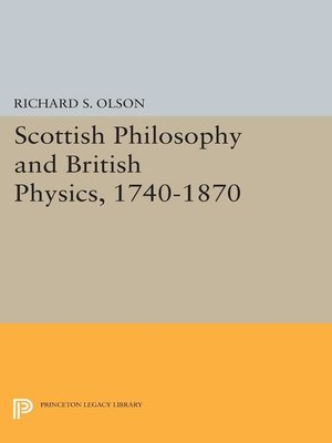 cover image of Scottish Philosophy and British Physics, 1740-1870