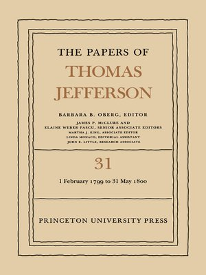 cover image of The Papers of Thomas Jefferson, Volume 31