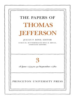 cover image of The Papers of Thomas Jefferson, Volume 3