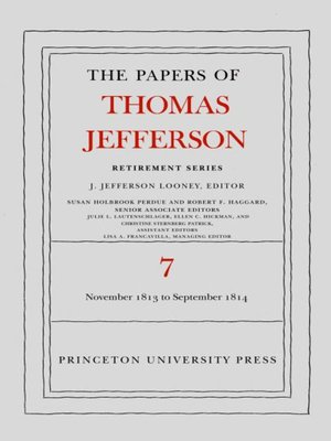 cover image of The Papers of Thomas Jefferson, Volume 7