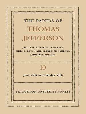 cover image of The Papers of Thomas Jefferson, Volume 10
