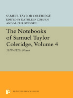 cover image of The Notebooks of Samuel Taylor Coleridge, Volume 4