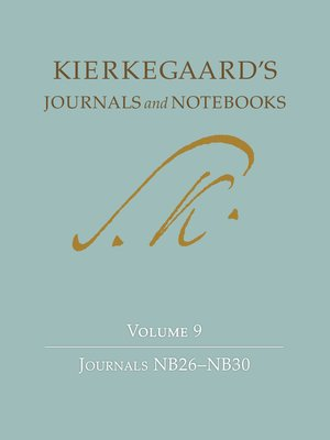 cover image of Kierkegaard's Journals and Notebooks, Volume 9