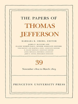 cover image of The Papers of Thomas Jefferson, Volume 39