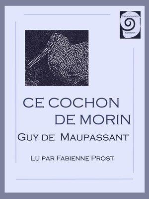 cover image of Ce cochon de Morin