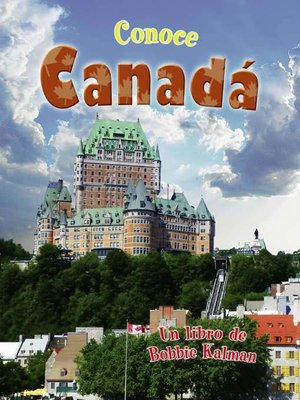 cover image of Conoce Canadá