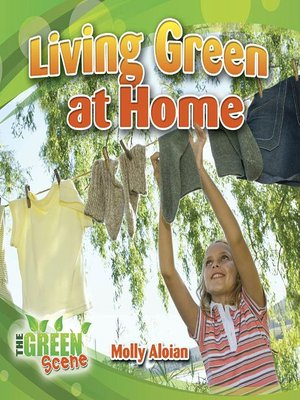 cover image of Living Green at Home
