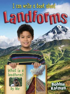 cover image of I Can Write a Book about Landforms