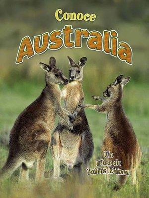 cover image of Conoce Australia