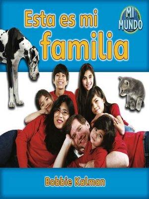 cover image of Esta es mi familia