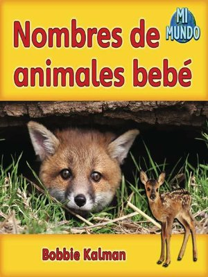 cover image of Nombres de animales bebé