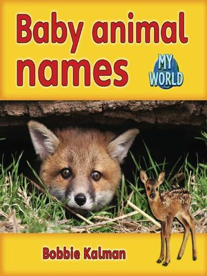 cover image of Baby Animal Names