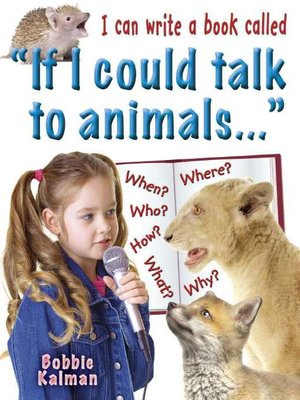 "cover image of I can write a book called ""If I could talk to animals…"""