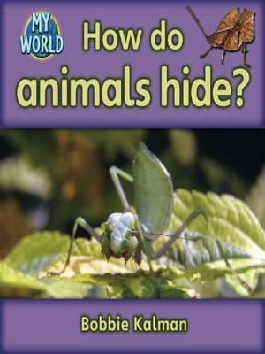 cover image of How Do Animals Hide?