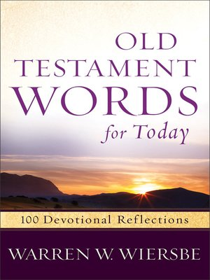 cover image of Old Testament Words for Today