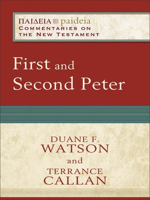 cover image of First and Second Peter