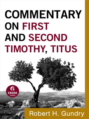 cover image of Commentary on First and Second Timothy, Titus