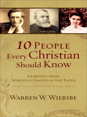 cover image of 10 People Every Christian Should Know