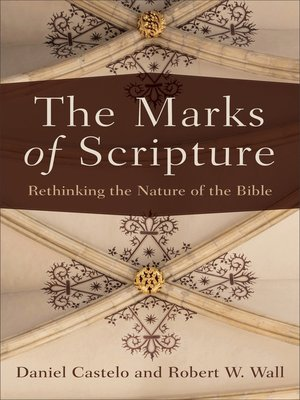cover image of The Marks of Scripture