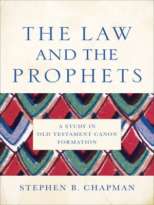 cover image of The Law and the Prophets