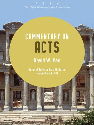 cover image of Commentary on Acts
