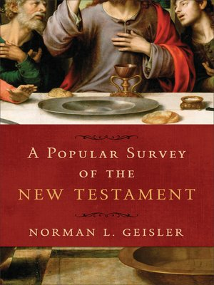 cover image of A Popular Survey of the New Testament