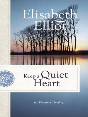 cover image of Keep a Quiet Heart
