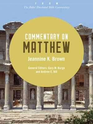 cover image of Commentary on Matthew