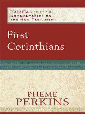 cover image of First Corinthians