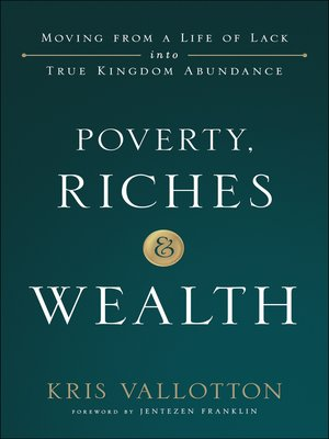cover image of Poverty, Riches and Wealth