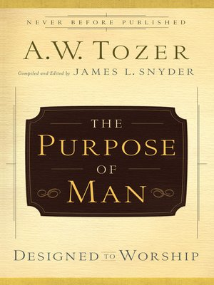 cover image of The Purpose of Man