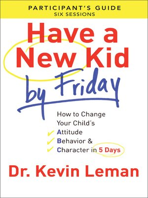cover image of Have a New Kid by Friday Participant's Guide