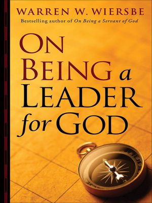 cover image of On Being a Leader for God
