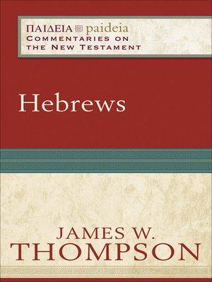cover image of Hebrews