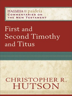 cover image of First and Second Timothy and Titus