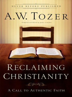 cover image of Reclaiming Christianity