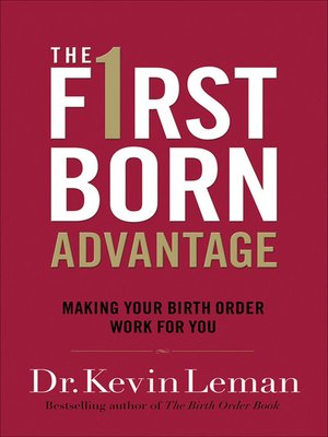 cover image of The Firstborn Advantage