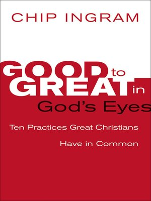 cover image of Good to Great in God's Eyes