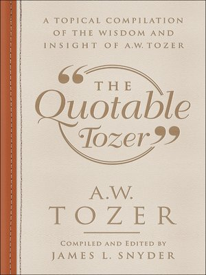 cover image of The Quotable Tozer