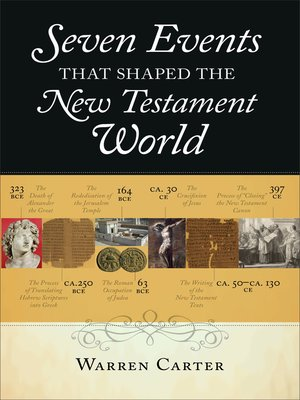 cover image for seven events that shaped the new testament world