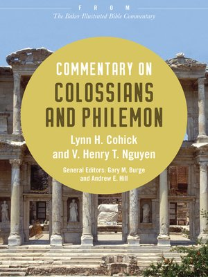 cover image of Commentary on Colossians and Philemon