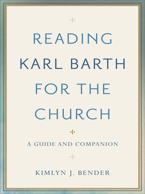 cover image of Reading Karl Barth for the Church