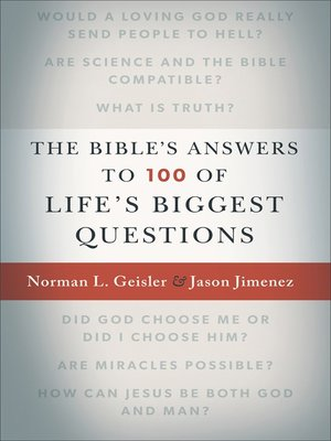 cover image of The Bible's Answers to 100 of Life's Biggest Questions