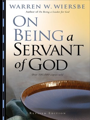 cover image of On Being a Servant of God
